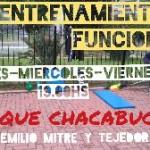 Entrenamiento en Parque Chacabuco en Tres de Febrero, Pcia. Buenos Aires (GBA Oeste)