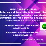 Para el desarrollo de la creatividad en Caballito, Ciudad A. de Buenos Aires