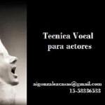 Técnica vocal para actores en Balvanera, Ciudad A. de Buenos Aires