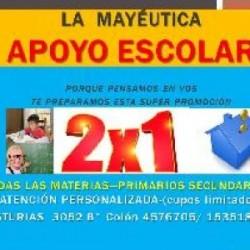 Apoyo escolar y seguimiento educativo en Capital, Pcia. Córdoba