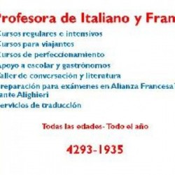 Enseñanza francés e italiano en Lomas de Zamora, Pcia. Buenos Aires (GBA Sur)